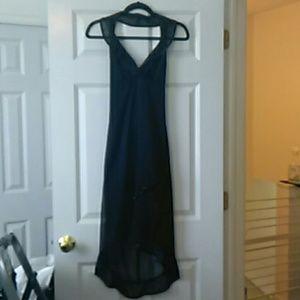 Stunning low cut low back dress, Lrg